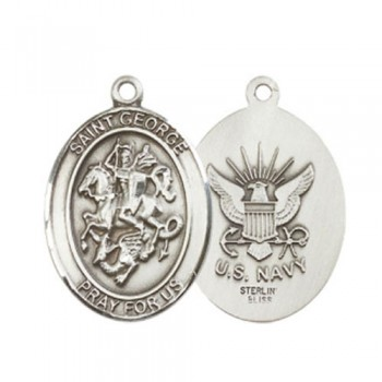 St. George / Navy Large Pendant