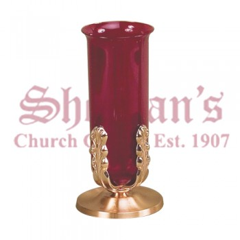 Altar Sanctuary Lamp with Plain Smooth Satin Finish Base