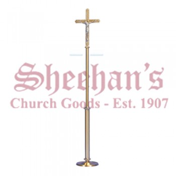 Processional Crucifix in Smooth Satin Finish