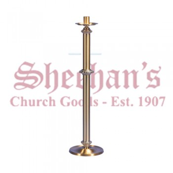 Fixed / Processional Paschal Candlestick in Smooth Satin Finish