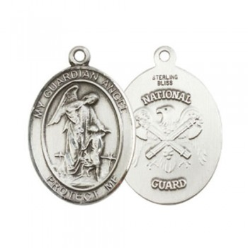 Guardian Angel / Nat'L Guard Large Pendant