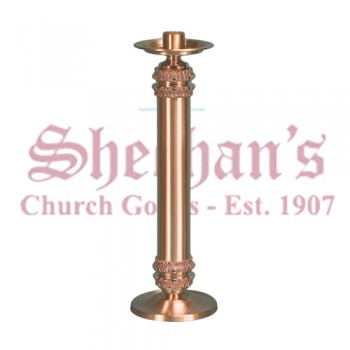 Large Altar Candlestick with High Relief Design