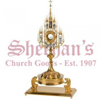 Monstrance with Carved Figures