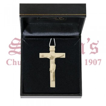 Mini Wood Carve Crucifix in Case