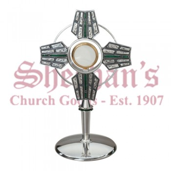Monstrance with Green Enamel