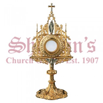 Monstrance with Sacred Heart of Jesus