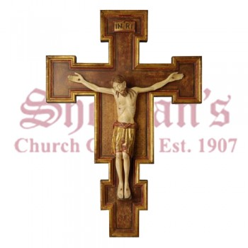 Wood Carve Crucifix by Pema