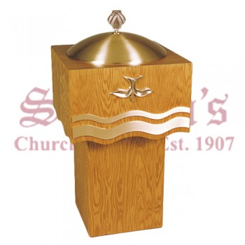 Baptismal Font with Holy Spirit Symbol