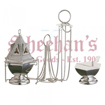 Gothic style Censer, boat and spoon