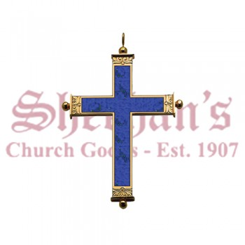 """Lapislazuli"" Bishop Pendant Pectoral Cross"
