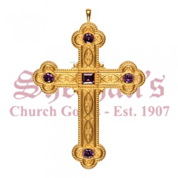 Pectoral Cross with Five Amethysts
