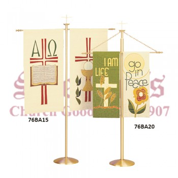 Bronze Processional Banner Stand