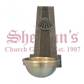 Holy Water Font with Baptismal Shell