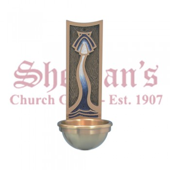 Holy Water Font - Enameled Back Plate Design