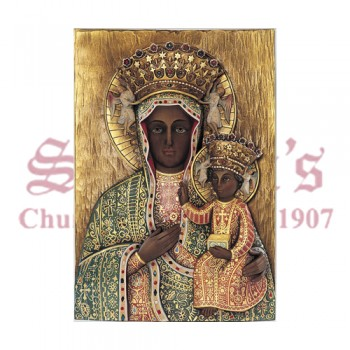 Our Lady Of Czestochowa - High Relief