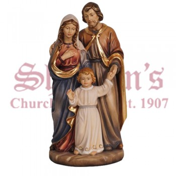 Holy Family with Jesus as Child Wood Carve