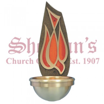 Holy Water Font with Holy Spirit Symbol