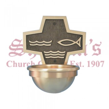 Holy Water Font - With Fish And Water