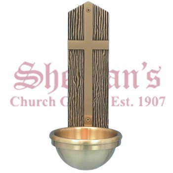 Holy Water Font with Plain Cross
