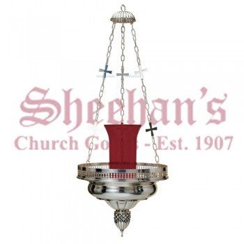Sanctuary Lamp with Cross Chain