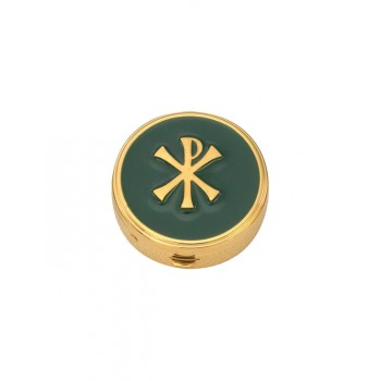 Pyx with Chi Rho Enamel Emblem