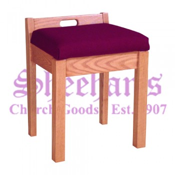 Stool with Fixed Cushion