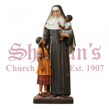 St. Katharine Drexel With Children - Full Round