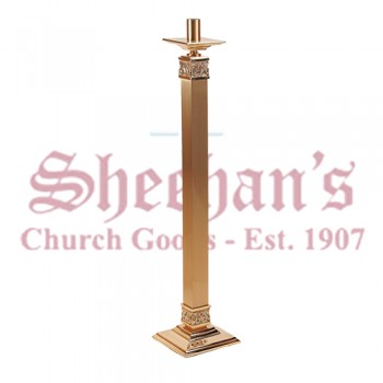 Fixed / Processional Paschal Candlestick with High Relief Details