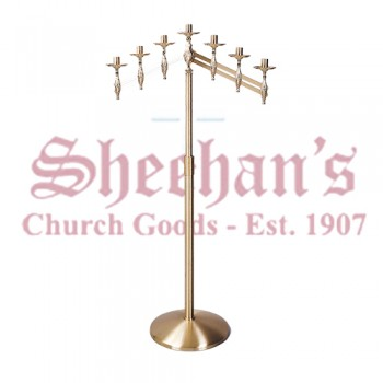 Floor Candelabra with Round Base