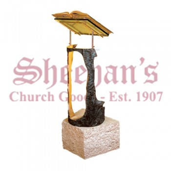 Travertine Marble Base Lectern