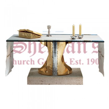 Bronze and Aluminum and Marble Pedestal