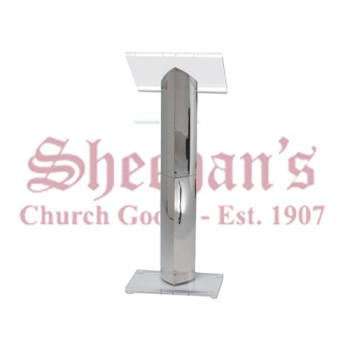 Brass and transparent lucite Lectern