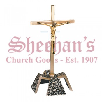 Altar Crucifix with Textured Antique Black Details