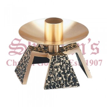 Altar Candlestick with Textured Antique Details
