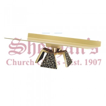 Altar Missal Stand with Textured Antique Black Details