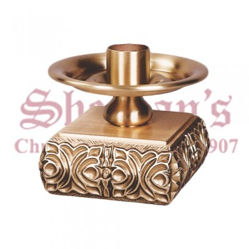 Altar Candlestick in High Relief Bronze