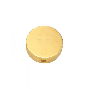 Gold Plated Pyx with Engraved Cross
