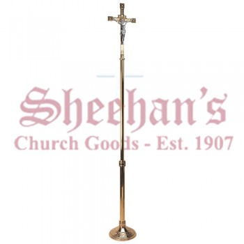 Processional Crucifix in High Polish Finish