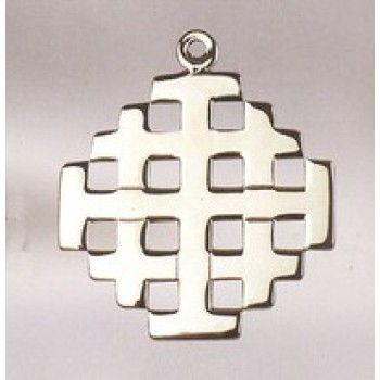 "Jerusalem Pectoral Cross with 30"" Chain"