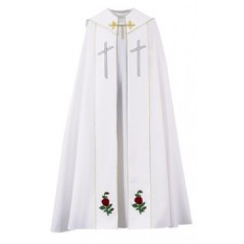White Marian Rose Cope