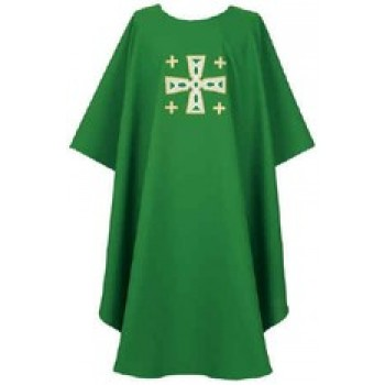 Green Cathedral Cross Chasuble