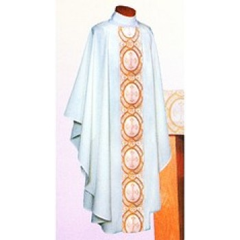 Chasuble with Gold and White Satin Brocade