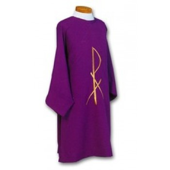 Dalmatic with Embroidered Gold Chi  Rho Design