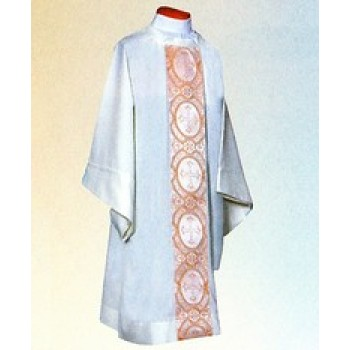 Dalmatic with Gold and White Satin Brocade