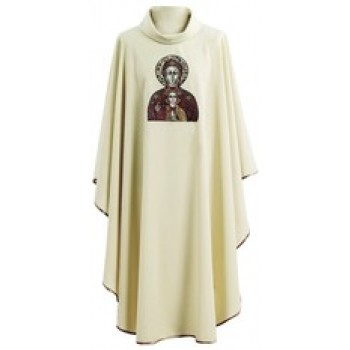 Chasuble with Embroidered Icon of Blessed Mother by Hayes and Finch