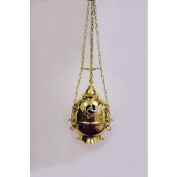 Four Chain Thurible in Highly Polished Brass