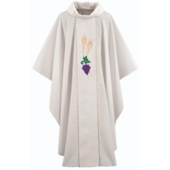 Chasuble with Grapes and Wheat Applique