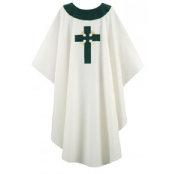 Cream Chasuble with Celtic Cross Applique