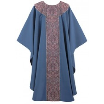 Purple Harvest on Serum Blue Chasuble