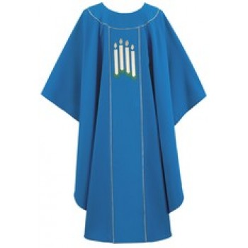 Chasuble with Advent Candles Design